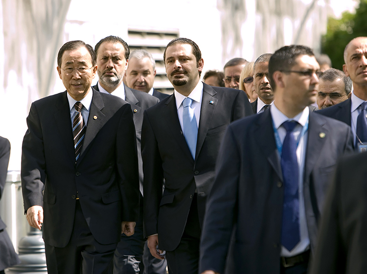 Secretary-General and Lebanese Prime Minister En Route to Security Council