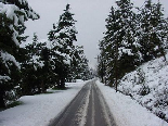 Road to Ehden in Winter