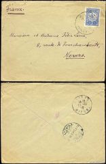 Lebanon (Turkish Post Offices) 1910 envelope to France