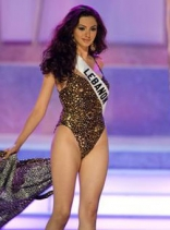 Gabrielle Bou Rashed At the Miss Universe pageant  July 2006