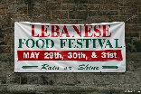 Lebanese Food Festival outside Our Lady of Lebanon Cathedral Brooklyn Heights