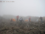 Hiking To Kilimanjaro, Tanzania Sept 2008- The Last Camp Before the Ascent at 4600m