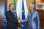 Minister Pinotti with Lebanese Prime Minister Saad Hariri